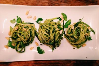 Raw zucchini spaghetti 28daysofme