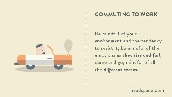 headspace.com mindful commute
